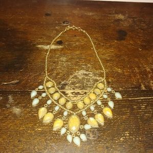 Pale Blue and Golden Yellow Lucky Brand Necklace
